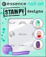 Трафарет для штампа Nail art stampy designs Essence 01 have fun!: фото
