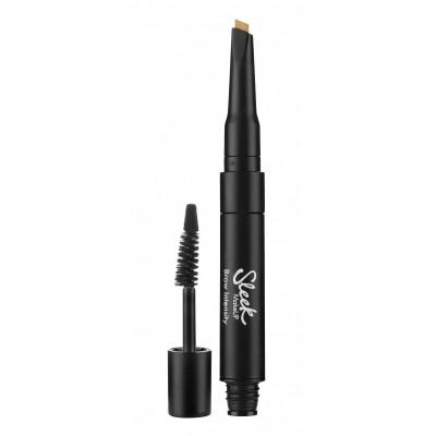 Гель для бровей и хайлайтер Sleek MakeUp Brow Intensity 219 Black: фото
