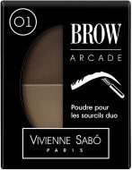 Тени для бровей двойные Vivienne Sabo/ Eyebrow shadow Duo/ Poudre pour les sourcils Duo Brow Arcade тон/shade 01: фото