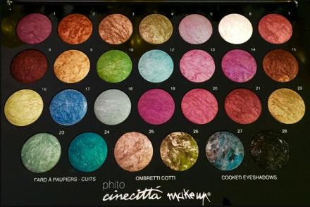 Палитра 27 тени запеченные Cinecitta Palette 27 cooked eye shadow: фото