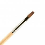 Кисть для ногтей ВАЛЕРИ-Д лак из волоса колонка №4 ровная: фото