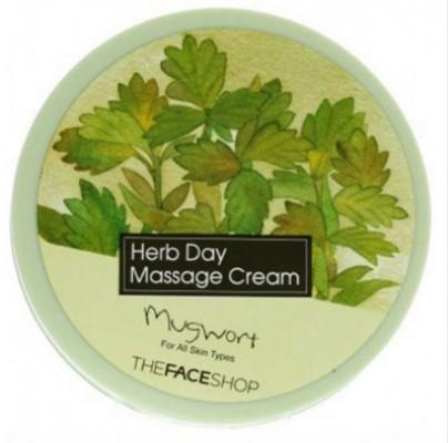 Крем массажный с экстрактом полыни THE FACE SHOP Herb day massage cream mugwort 150 мл: фото