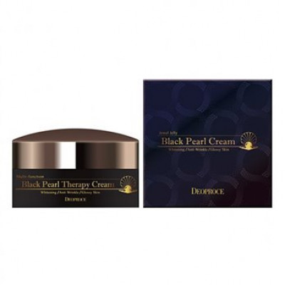 Крем для лица с черным жемчугом антивозрастной DEOPROCE BLACK PEARL THERAPY CREAM 100гр: фото