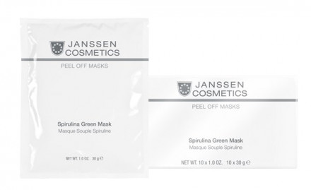 Маска зеленая моделирующая со спирулиной Janssen Cosmetics Spirulina Green Mask 30г: фото