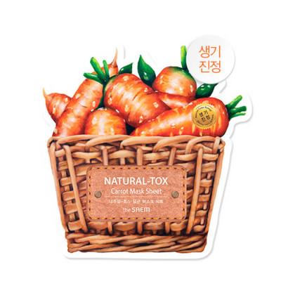 Маска тканевая морковная THE SAEM Natural-tox Carrot Mask Sheet 20гр: фото