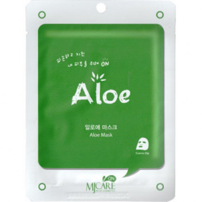 Маска тканевая с алоэ Mijin MJ CARE on Aloe mask pack 22гр: фото