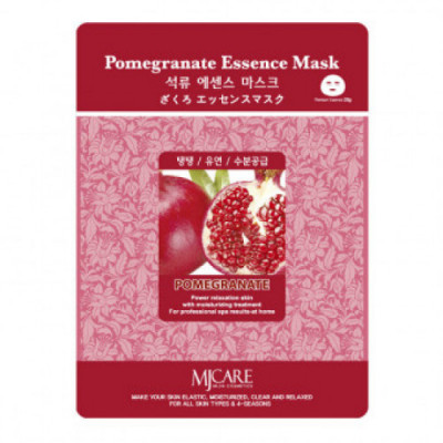 Маска тканевая гранат Mijin Pomegranate Essence Mask 23гр: фото