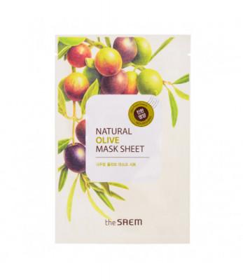 Маска тканевая с экстрактом оливы THE SAEM Natural Olive Mask Sheet 21мл: фото