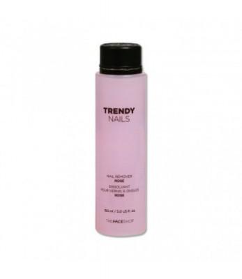 Жидкость для снятия лака THE FACE SHOP TFS TRENDY NAIL REMOVER 150ml ROSE: фото