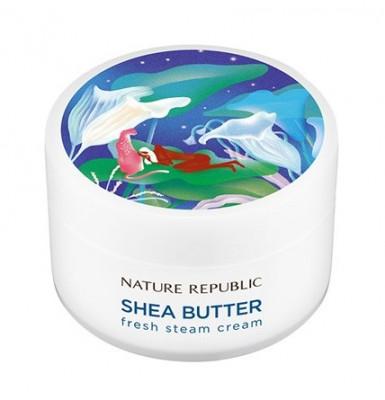 Крем для лица паровой NATURE REPUBLIC SHEA BUTTER STEAM CREAM FRESH 100мл: фото