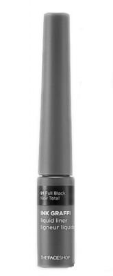 Подводка для глаз THE FACE SHOP INK GRAFFI LIQUID LINER 01 FULL BLACK 6ml: фото