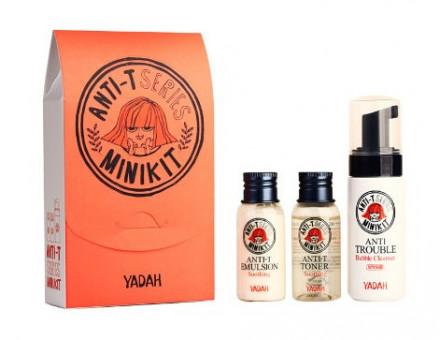 Мини-набор для ухода за жирной кожей YADAH ANTI-T MINI KIT: фото