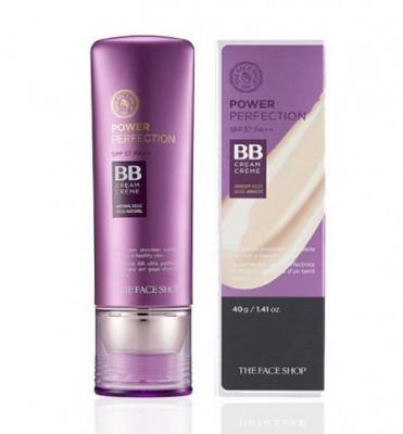 BB-крем для совершенной кожи THE FACE SHOP Power Perfection BB Cream SPF37 PA++ V201 Apricot Beige: фото