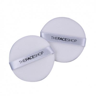 Спонж для нанесения макияжа The Face Shop Daily beauty tools face it NBR round sponge, 2 шт.: фото