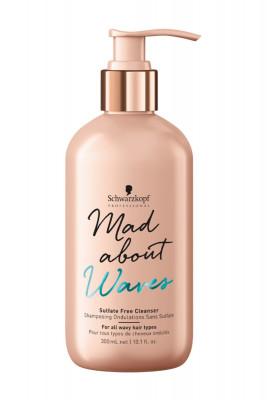 Крем бессульфатный очищающий для тонких, нормальных и жестких волос Schwarzkopf Professional Mad About Waves Sulfate Free Cleanser 300мл: фото
