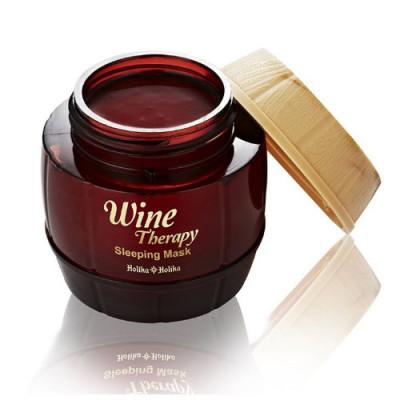 Маска для лица ночная Holika Holika Wine Therapy Sleeping Mask Red Wine, красное вино, 120 мл: фото