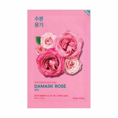Маска тканевая увлажняющая Holika Holika Pure Essence Mask Sheet Damask Rose, роза 20 мл: фото