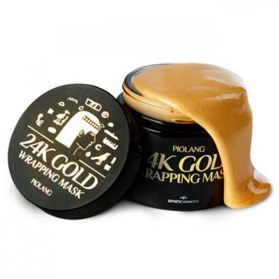 Маска для лица с 24 каратным золотом ESTHETIC HOUSE PIOLANG 24k GOLD WRAPPING MASK, 80 мл: фото