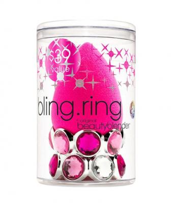 Спонж розовый на подставке в форме кольца Beautyblender Bling Ring: фото