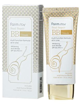 BB-крем Восстанавливающий с улиточным муцином FarmStay Snail Repair BB Cream SPF50+/PA+++: фото
