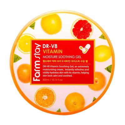 Гель витаминный многофункциональный FarmStay DR-V8 Vitamin Moisture Soothing Gel 300мл: фото