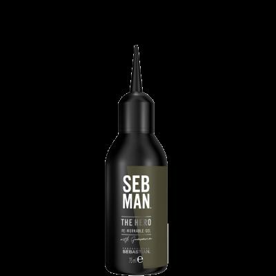 Универсальный гель для укладки волос SEB MAN THE HERO 75мл: фото