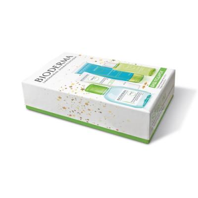 Набор для жирной проблемной кожи BIODERMA SEBIUM: крем 40 мл + мицеллярная вода100мл + лосьон 50мл + гель для умывания 100мл: фото