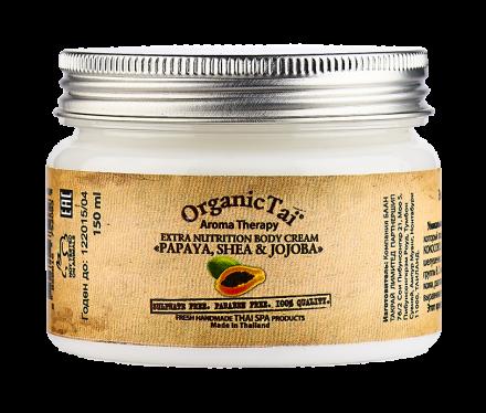 Крем для тела экстрапитательный с папайей, ши, жожоба Organic Tai Aroma Therapy Extra Nutrition Body Cream Papaya, Shea & Jojoba 150 мл: фото
