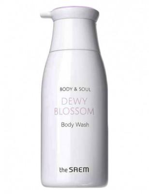 Гель для душа с экстрактами цветов эдельвейса и ириса THE SAEM Body &Soul Dewy Blossom Body Wash 300мл: фото