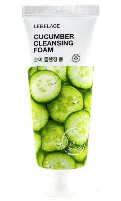 Пена для умывания с экстрактом огурца Lebelage Cleansing Foam Сucumber 100 мл: фото